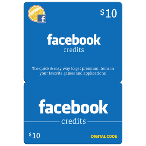 Facebook Gift Card $10 (US) Email Delivery