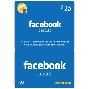 Facebook Gift Card $25 (US) Email Delivery