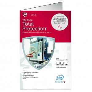 McAfee Total Protection 2015 - 3 PC / 1 Year