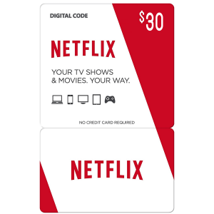 Netflix Gift Card $30 (US) Email Delivery