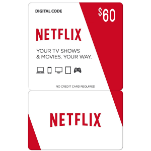 Netflix Gift Card $60 (US) Email Delivery