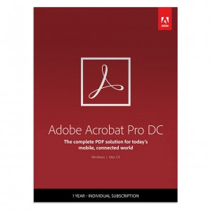 Adobe Acrobat Pro DC (1-Year Subscription)